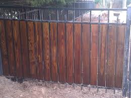 wrought iron privacy fence. Simple Wrought If You Need A Privacy Fence And Canu0027t Afford Thousands For New One  Can Improvise By Adding Stained Wood Pickets To Your Current Aluminum Or Wrought  On Wrought Iron Privacy Fence T
