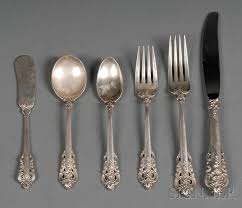 Wallace Sterling Patterns Magnificent Wallace Sterling Partial Grand Baroque Pattern Flatware Service