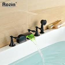 how to change bathtub faucet oil rubbed black led color changing deck mount replace bathroom sink