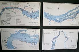 Tennessee River Navigation Charts 4 Vintage Tennessee River Navigation Charts For The Home