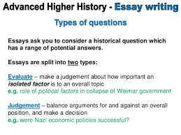 questions advanced higher history essay 2 question stems essays