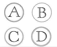 Letter For Banner Banner Templates Free Printable Abc Letters Printables Letter For