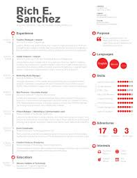 Best Resume Design Three column resume template best of simple clean infographic 82