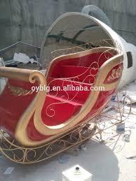 new fiberglass sleigh sleigh for decorations red gold sleigh diy santa sleigh