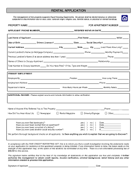 Application Form For Rental Rental Application Form In Word And Pdf Formats