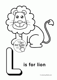 Small Picture Coloring Pages Letter L Coloring Pages Of Alphabet L Letter Words