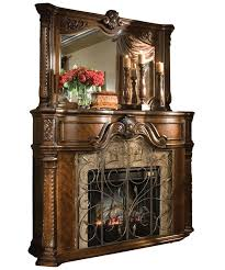 a beautiful antique and artistic electric fireplace