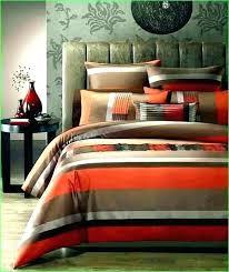 orange and blue duvet brown bedding chocolate burnt comforter set in cover uk duve blue yellow orange stripes bedding set