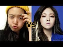 korean celebrity no make up vs make up korean celebrity no make up vs make up