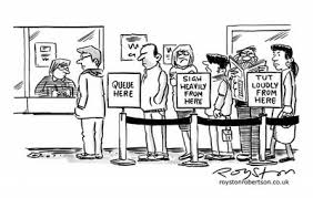 Image result for cartoon pictures of queues