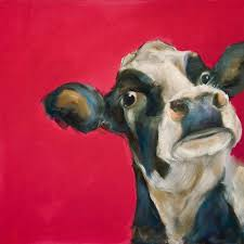top hand painted cow oil painting original cow cattle farm art oil painting on canvas 20 inches large good quality in plaques signs from home garden