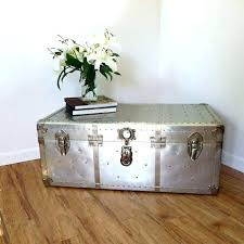 silver trunk coffee table best references images on antique trunks silver trunk coffee table vintage industrial aluminum silver industrial aluminium