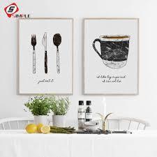 Großhandel Schwarz Weiß Geschirr Poster Leinwand Gemälde Für Esszimmer Wandbilder Skandinavischen Nordic Moderne Kunst Wohnkultur Kein Rahmen Von