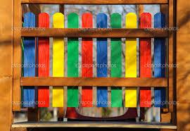 Assi Di Legno Colorate : Recinzione colorata ? foto stock � vaximilian