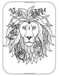 Small Picture coloring page coloring adult lion head 2 free sample Join my