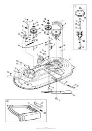 troy bilt 13wn77ks011 pony (2013) parts diagram for mower deck 42 inch troy bilt pony solenoid wiring diagram at Troy Bilt Pony Wiring Schematic