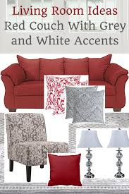 living room ideas red couch with grey and white accents home decor ideas and inspiration homedecormuse