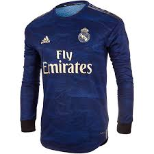 2019 20 Adidas Real Madrid Away L S Authentic Jersey