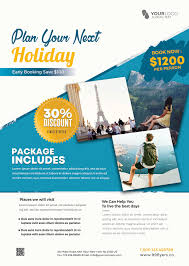 Holiday Flyers Templates Free Download Travel Holiday Psd Flyer Template For Free This