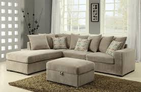 Taupe Living Room Furniture Coaster Olson Contemporary Reversible Sectional With Chaise