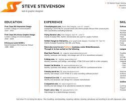 Design-focused CVs and resumes