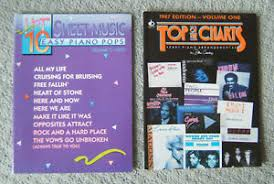 Details About Top Of The Charts 1987 Hot 10 Easy Piano Pops 1990 Music Books
