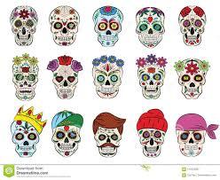 голова вектора черепа мексиканская зацветенная мертвая и цветя