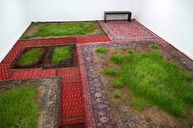 martin roth makes indoor lawns by growing real grass on aging persian rugs inhabitat green design innovation architecture green building