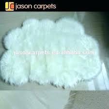 white faux fur rug cloud shape kids ikea