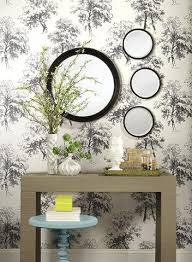 york wallpaper. deciduous wallpaper in black and white by ashford house for york wallcoverings