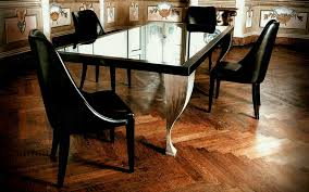 black wood rectangular dining table. Furniture Rectangle Glass Dining Table Top With Black Wooden Frame And White Legsbined By Leather Chairs Wood Rectangular U