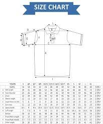 Tee Size Chart Polo Tee Size Chart Rldm