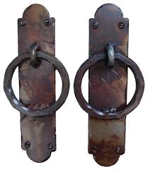 garage door handlesPalermo Iron Garage Door Handles Rust Finish  Rustic  Door