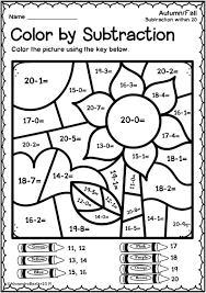 Find difference without regrouping for grade 1. This Resource Is A Selection Of Color By Code Color By Number Subtraction Worksheets Math Coloring Worksheets Math Worksheets Subtraction Worksheets