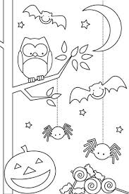 Small Picture Printable Halloween Coloring Pages Children Hallowen Coloring