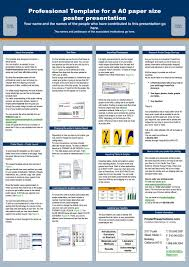 A0 Size Poster Template Professional Template For A A0 Paper Size Poster