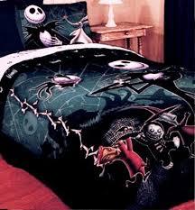 baby nursery large size gothic black jack skellington nursery bedding set beside rustic wooden bedside