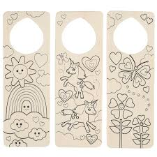 Find the Darice® Wood Door Knob Hangers, Unicorn & Rainbow at Michaels
