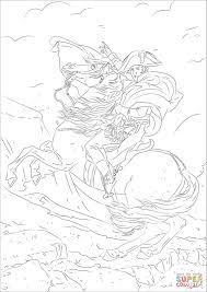Napoleon Bonaparte Crossing The Alps Coloring Page Free Printable