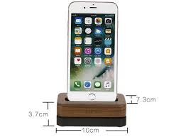 wooden aluminum iphone desk charger stand dock station holder for iphone 7 7plus