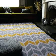 ochre grey chevron rug for nursery