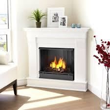 corner ventless gel fuel fireplace in dark walnut 5950 dw the home depot