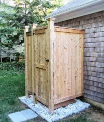 outdoor shower enclosure cedar showers com pertaining to out door plan 1