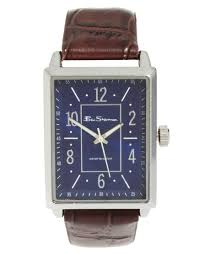 ben sherman leather strap watch square face r943 in brown for men gallery