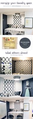 Easy Laundry Room Makeovers Energize Your Laundry Space With Stencils Stencil Stories