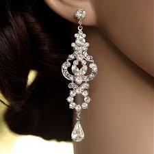 awesome crystal chandelier earrings for wedding styles rhinestone long bridal art deco gold drop teardrop love