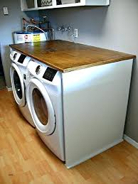 countertop washer laundry room over washer dryer beautiful hickory wooden folding laundry table over white washer