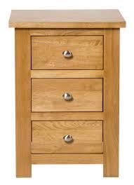 waverly oak 3 drawer bedside table