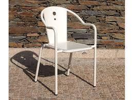 stackable garden chair with armrests