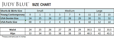 Kancan Jeans Size Chart Sizing